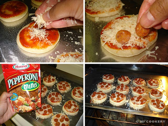 Mini Pepperoni Pizzas