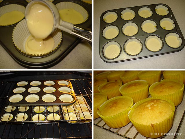 Pineapple-Plumeria Cupcakes
