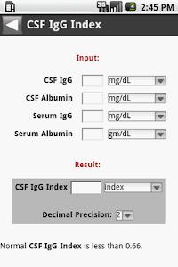 MedCalc 3000 Neurology screenshot 2