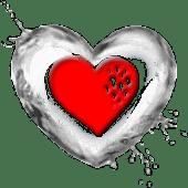 Red Heart Love Romantic Theme