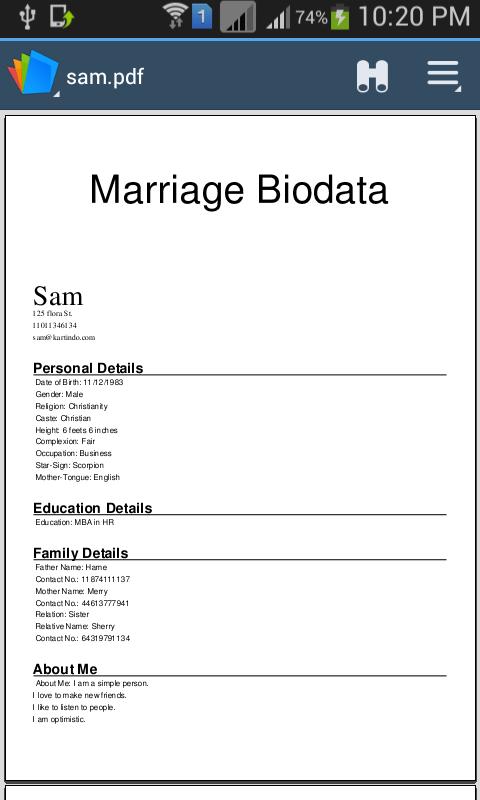 Example Of Resume Biodata Sample Customer Service Resume