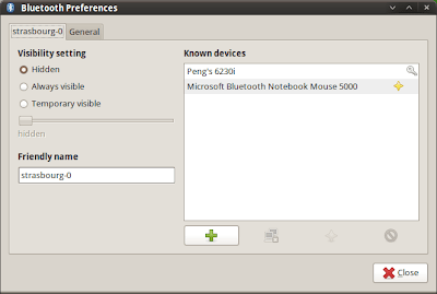bluetooth preferences dialog