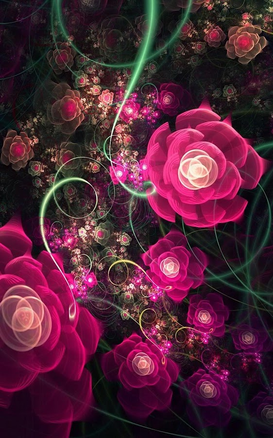 Glowing Flowers Live Wallpaper  Android Apps on Google Play