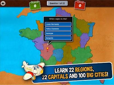 GeoFlight France: Geography screenshot 1