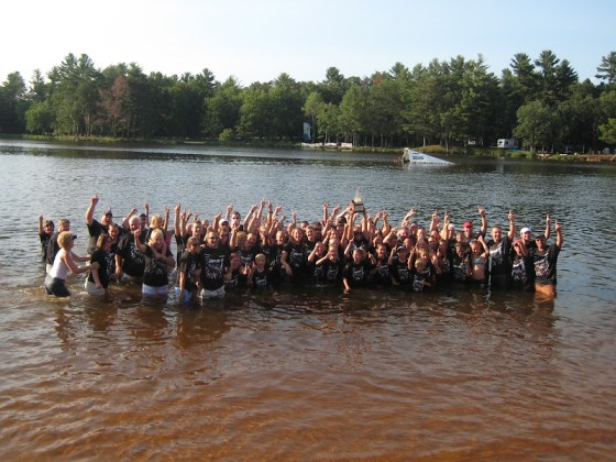 Mad-City Celebrates 1st Place by Swimming in Lake Wazeecha