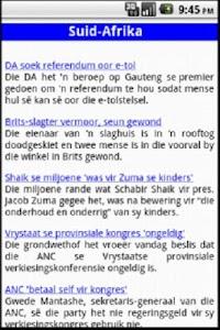 Afrikaans Nuus screenshot 1