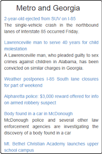Atlanta News screenshot 1