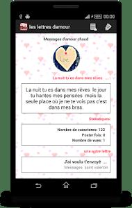 les lettres d'amour romantique screenshot 3
