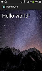 Hello World screenshot 0