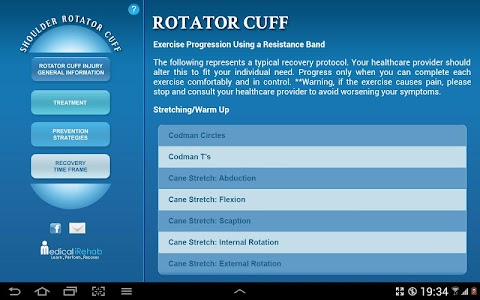 Rotator Cuff Tablet App screenshot 3