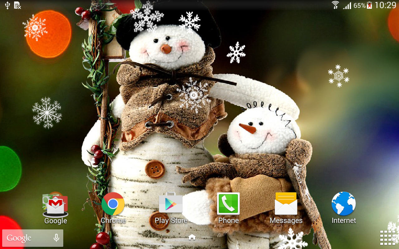 Christmas Falling Snow Wallpaper Note 3 Snowman Live Wallpaper Android Apps On Google Play