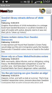 NewsNow - English Swedish news screenshot 1