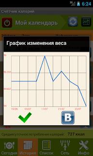 Калькулятор калорий screenshot 05