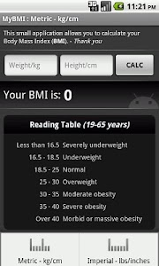 BMI Calculator screenshot 0