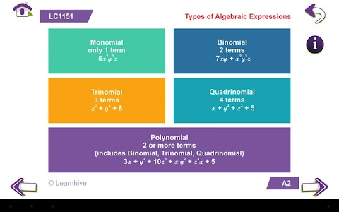 Grade 8 Math Learning Cards screenshot 3