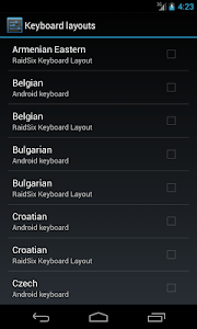 RS - Hardware Keyboard Layouts screenshot 1