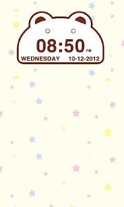 Cute Bear Clock Widget screenshot 1