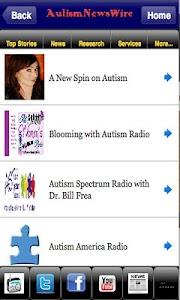 Autism News Wire screenshot 1