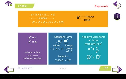 Grade 8 Math Learning Cards screenshot 4
