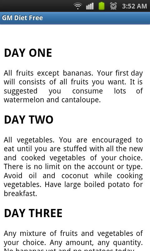 gm diet vegetarian plan android apps on google play