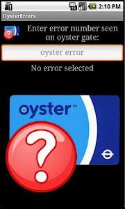 London Tube - Oyster Errors screenshot 0