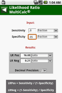 MedCalc 3000 EBM Stats screenshot 1
