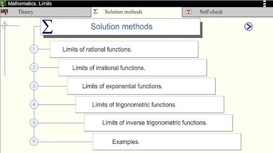 Math. Limits screenshot 2