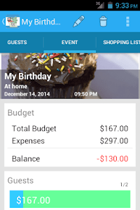 Event Expenses screenshot 1