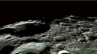 Superficie lunar vista desde la sonda Kaguya