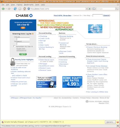Martes-Martes: Chase Website: Secure? Encouraging Good ...
