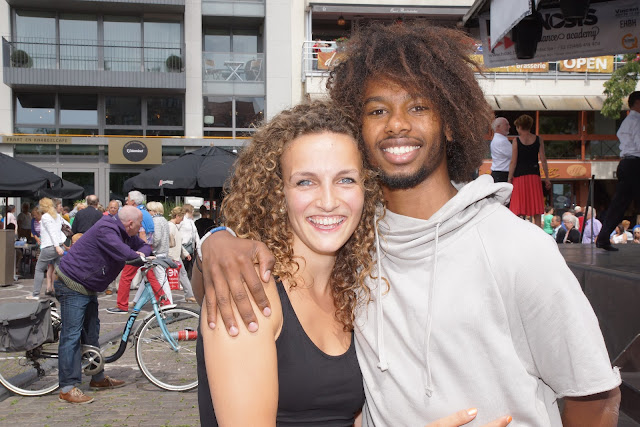 Morgane en Malik uit So You Think You Can Dance op de batjes in Roeselare tijdens Roeselare Danst