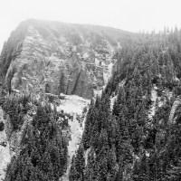 Munţii Ceahlău în alb şi negru