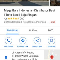 Toko Baja Ringan Di Kota Bogor Mega Indonesia Distributor Besi