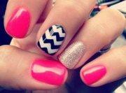 summer nail design short nails