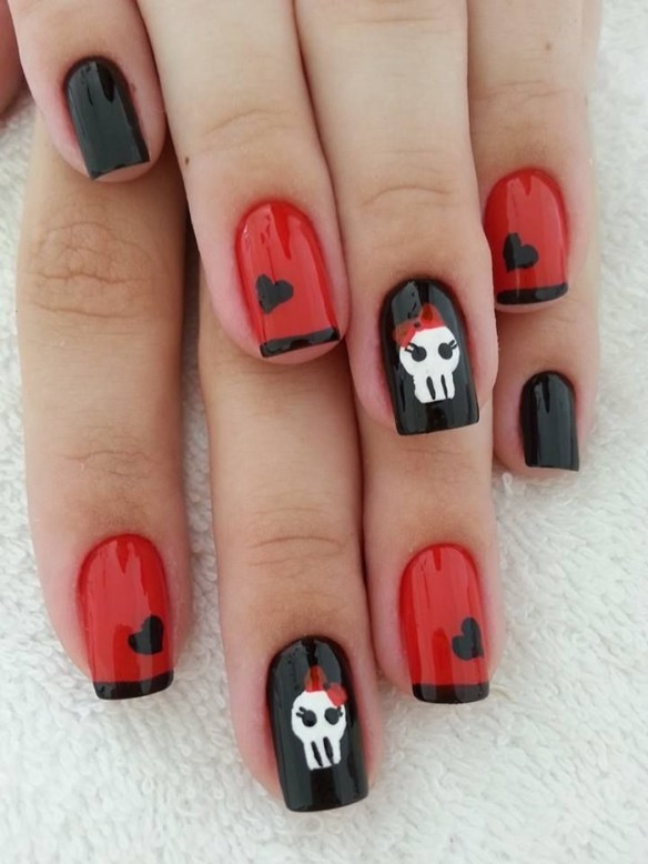 Rocking Skull Nail Art Designs 2016 Fashionte