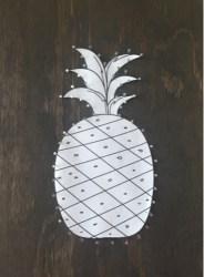 Brushing our way through life!: Pineapple String Art