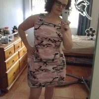 Pink Camo Shift Dress
