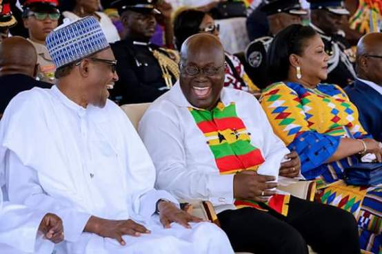 Image result for Buhari in Ghana