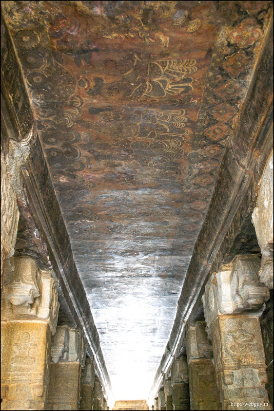 The Colorful Murals in the ceiling - Lepakshi