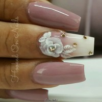 3D Flowers Nail Designs 2017 2018 - Reny styles