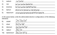 Bryn D'Agostino: Electron Configuration Practice Worksheet