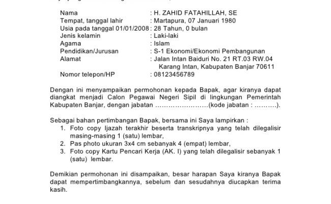 Contoh Surat Lamaran Kerja Honorer Dinas Kesehatan Contoh Ong Cute766