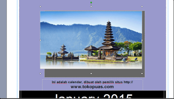 cara mendesain calendar 10