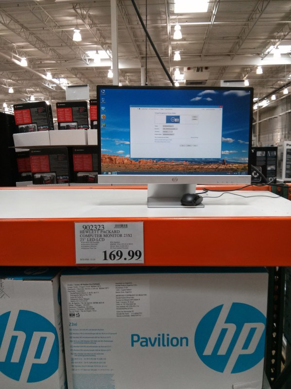 Costco Computer Monitors - Year of Clean Water