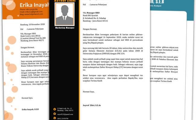 5 Contoh Surat Lamaran Kerja Desain Menarik File Doc Word Corona Todays