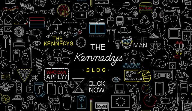*充滿霓虹燈元素的網站:The Kennedys Web Site 1