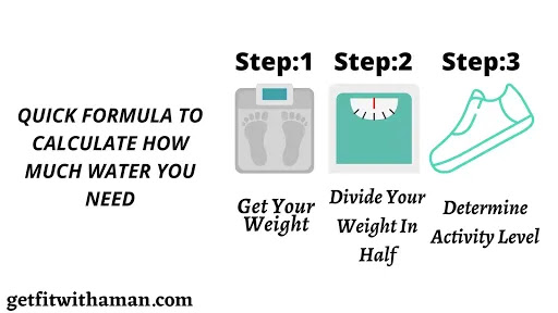 quick formula to calculate how much water you need - how much water to lose weight
