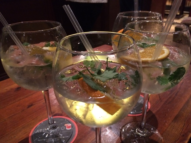 Copperhead gin and tonics served with lemon and coriander