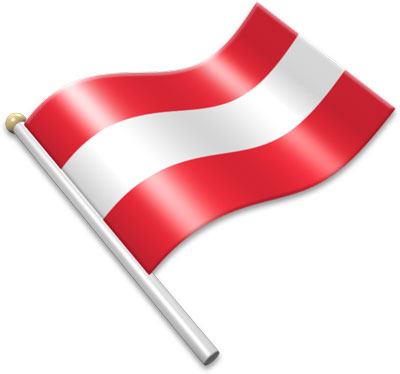 Flag Icons of Austria 3D Flags Animated waving flags