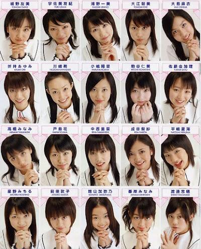 AKB48一期生の合格直後の顔面写真